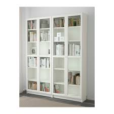 Bookcase With Doors White Billy Oxberg Bookcase White Glass Ikea