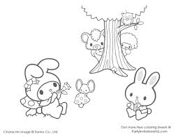little twin stars coloring pages funycoloring