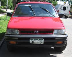 subaru justy turbo down on the mile high street subaru justy gl 4wd the truth