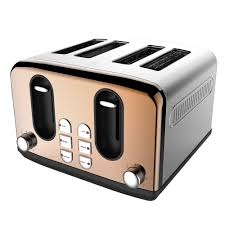 Notes Toaster Wilko 4 Slice Toaster Copper Effect At Wilko Com