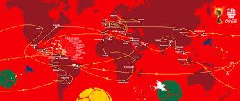 Rio On World Map Größte Fifa World Cup Trophy Tour Von Coca Cola Und Fifa Startet