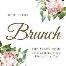 brunch invitations brunch invitation template pink flowers brunch invitation