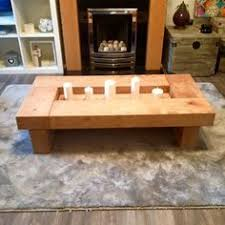 oak coffee table offering a trendy take on the classic coffee