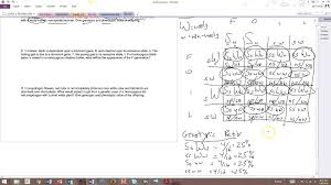 Dihybrid Crosses Worksheet Answers Dihybrid Crosses