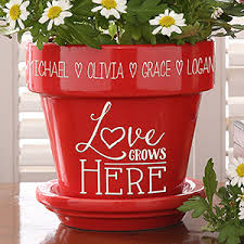personalized flower pot personalized flower pot grows here gifts