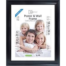 How To Hang Poster Without Frame Mainstays 22x28 Matted To 18x24 Wide Black Poster And Picture