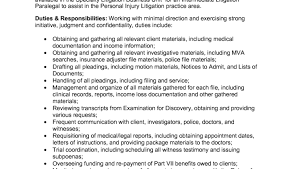 Litigation Attorney Resume Sample by Personal Injury Lawyer Resume Sample Intermediate Litigation