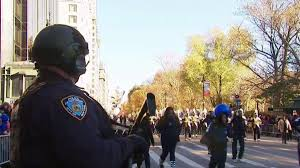 how the nypd kept the thanksgiving day parade safe nbc new york