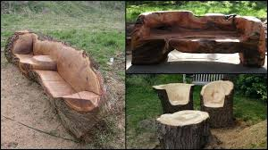 Log Outdoor Furniture by Unique Furniture Made From Tree Stumps And Logs