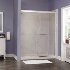 marina collection 3 8 u2033 frameless s cut sliding shower doors