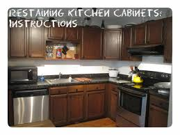 Staining Kitchen Cabinets Darker Before And After by Kitchen Cabinets Staining Before After Kitchen