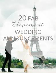 elopement announcements 20 elopement wedding announcements southbound weddbook