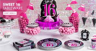 16th birthday party supplies sweet 16 party ideas party city