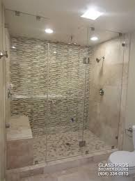 Glass Shower Doors Cost Frameless Glass Shower Enclosures Custom Seamless