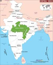 map central india map
