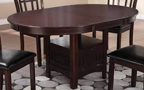 espresso dining table with leaf espresso oval dining table with solid wood legs that transitional