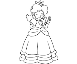 princess daisy coloring pages 9043