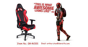 Racing Seat Desk Chair Three Racing Seat Office Chairs In Super Hero Style Arthur Chan