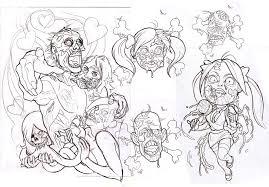 tattoo ideas zombie zombie tattoo flash sheet by johndevilman deviantart com on