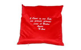 carrello a cuscino d cuscini con frasi quorino vendita di gadget ricamati