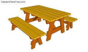 picnic table with benches plans outdoor patio tables ideas