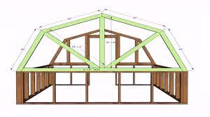 free gambrel roof house plans youtube
