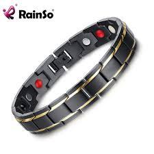 bracelet bangle men images Rainso brand design fashion health energy bracelet bangle men 316l jpg