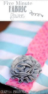 fabric flowers five minute fabric flowers tutorial