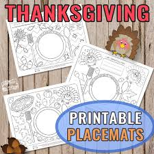 printable thanksgiving day placemats itsy bitsy