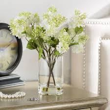 Silk Flower Arrangements Beachcrest Home Quincy Lilac Silk Flower Arrangement In Vase
