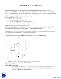 integration of metabolism biochemistry lecture notes docsity