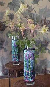 Stained Glass Vase Stained Glass Bud Vase Pattern And Kit