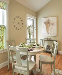 clock in entryway dining room contemporary with beige dining chair