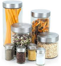 glass kitchen storage canisters glass pasta jar ebay