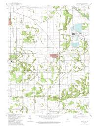 Us Map Topography Porter County Indiana Genweb Usgs Topographical Maps