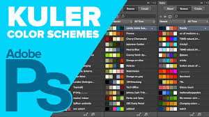 how to create color schemes using kuler in photoshop youtube