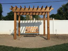 swing pergola redwood arbor pergola designs ideas garden ideas pictures on