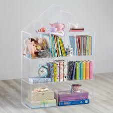 Land Of Nod Bookshelf Publisher U0027s Clear House Bookcase Acrylic Bookcase House And