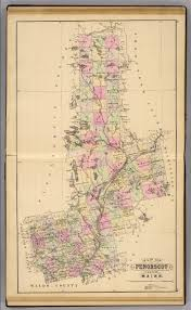 Maine County Map Penobscot Co Maine David Rumsey Historical Map Collection