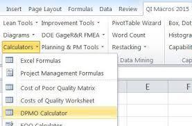 Six Sigma Excel Templates Six Sigma Calculator Dpmo Calculator In Excel