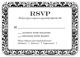 Wedding Invitations With Rsvp Classic Damask Border Rsvp Cards Wedding Invitations Shutterfly
