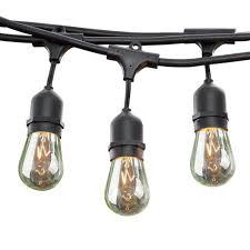 outdoor sockets for christmas lights sokani 24 ft long patio outdoor string lights weatherproof