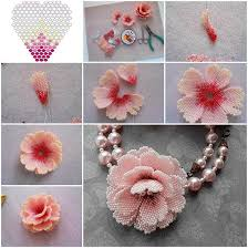 beading flower necklace images Creative ideas diy beautiful small beaded flowers jpg