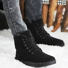 buy winter boots malaysia fashion mens winter warm casual high shoes ankle boots black