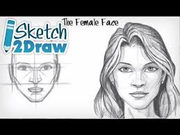 how to draw the female face youtube