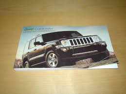 jeep commander xk owners manual handbook with wallet 2006 2010