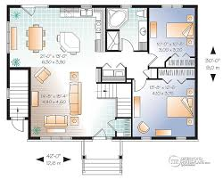 one house plans with walkout basement house plans with basement apartment drummond plans