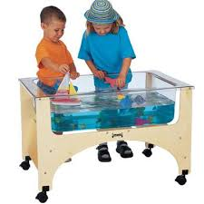 water table with cover preschool and daycre petite sand and water sensory table for