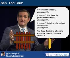 Anti Obamacare Meme - breaking ted cruz blocking door to capitol with bomb strapped to