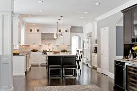White Kitchen Black Island Dark Gray Kitchen Island With Black Industrial Pendants